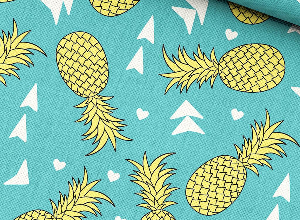 简笔画菠萝的颜色