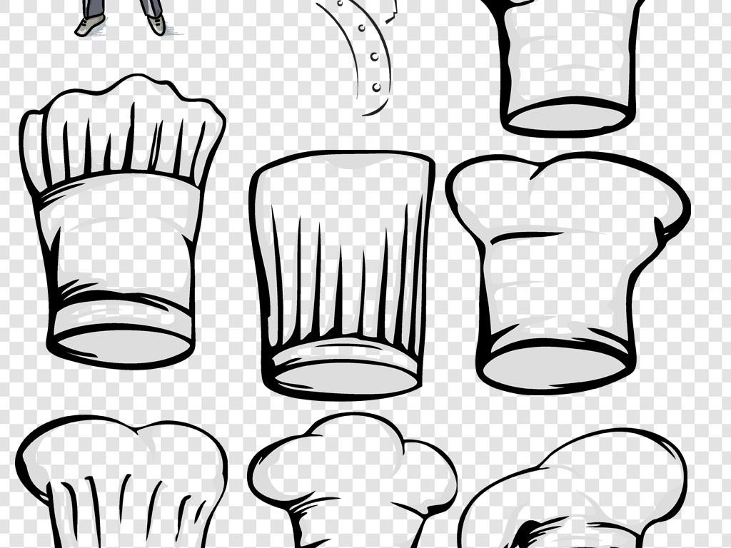 卡通手绘厨师厨师帽png海报素材