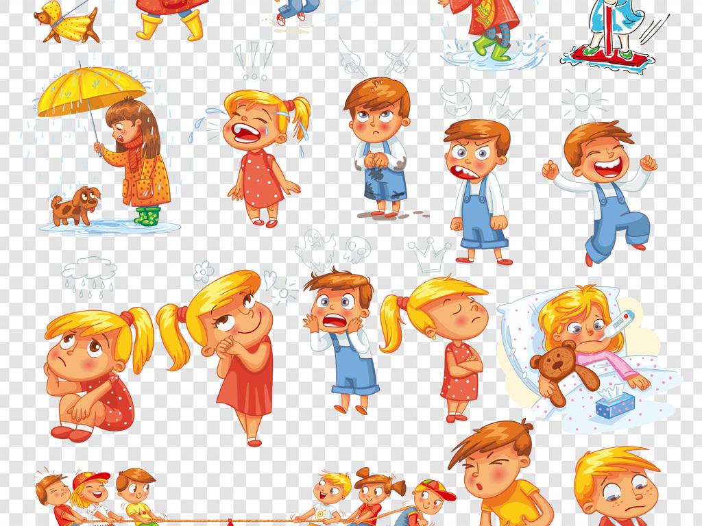 儿童手绘儿童卡通小孩劳动的孩子卡通幼儿园