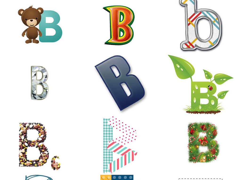 26个英文字母b个性字体1图片素材 模板下载 37.26MB 效果大全 其他