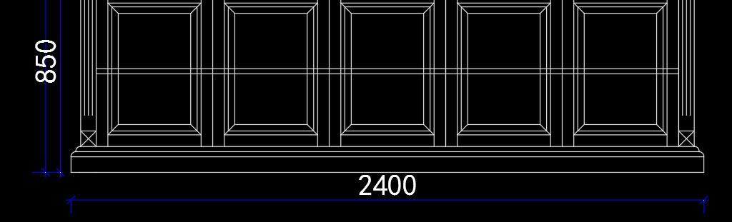 整木定制书柜cad图纸