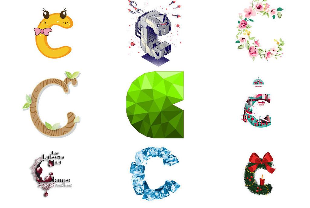 26个英文字母c个性字体3
