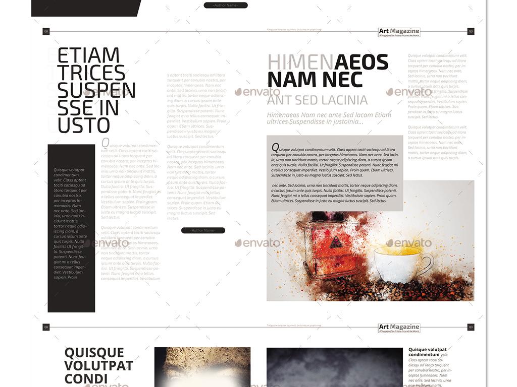 产品画册(整套) > 时尚摩登艺术图册杂志设计布局排版psd模板图片