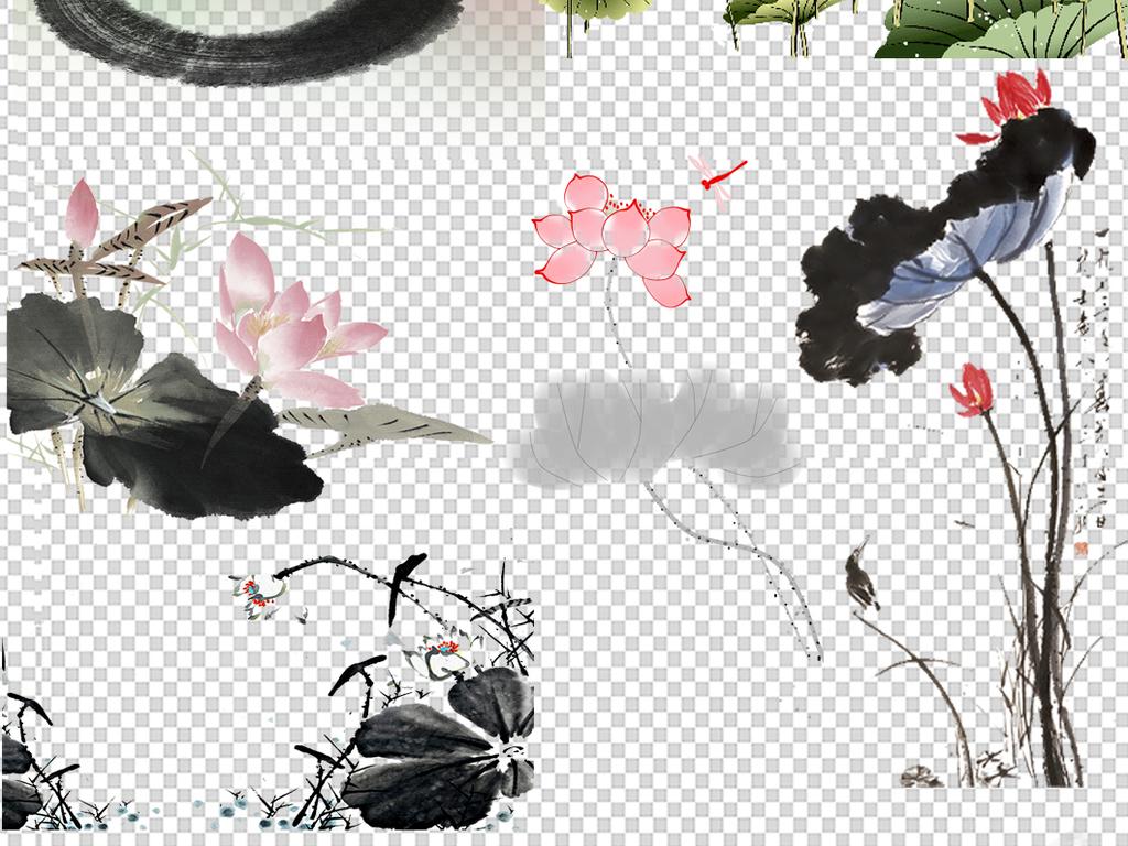 佛教莲花                                          免抠素材手绘
