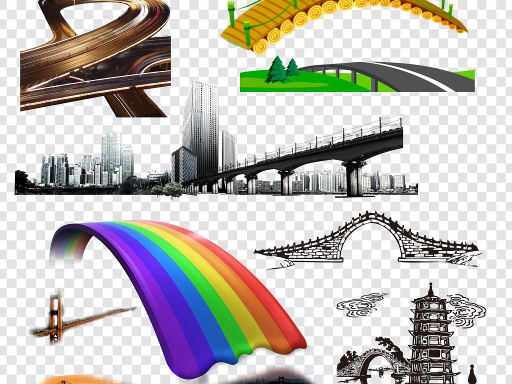 设计元素 背景素材 其他 > 桥梁大桥png海报素材  桥梁大桥png海报