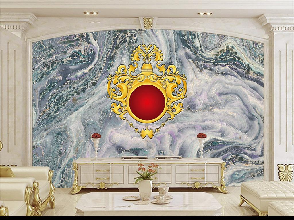 背景墙|装饰画 电视背景墙 欧式电视背景墙 > 欧式皇室花纹客厅电视图片