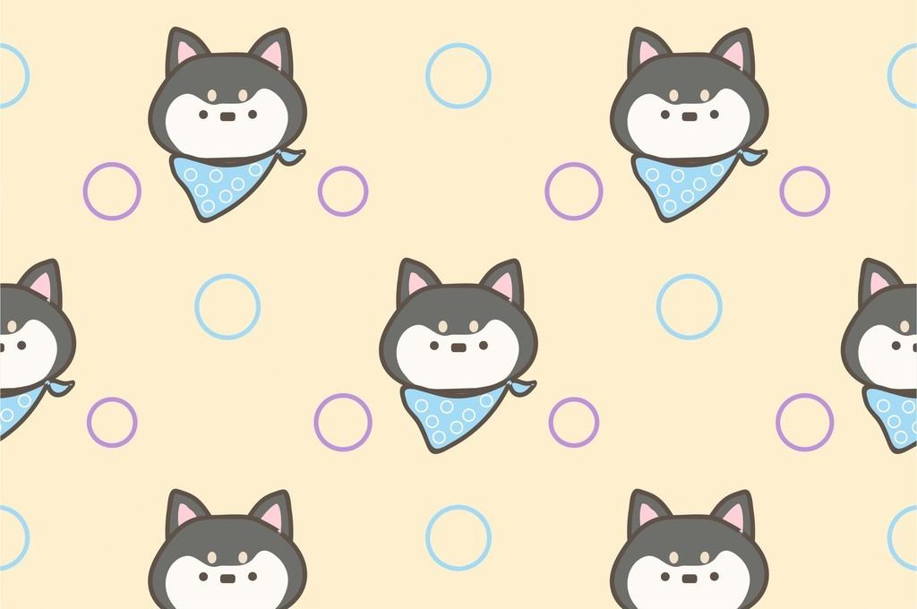 卡通猫咪可爱动物q版面料印花图案素材