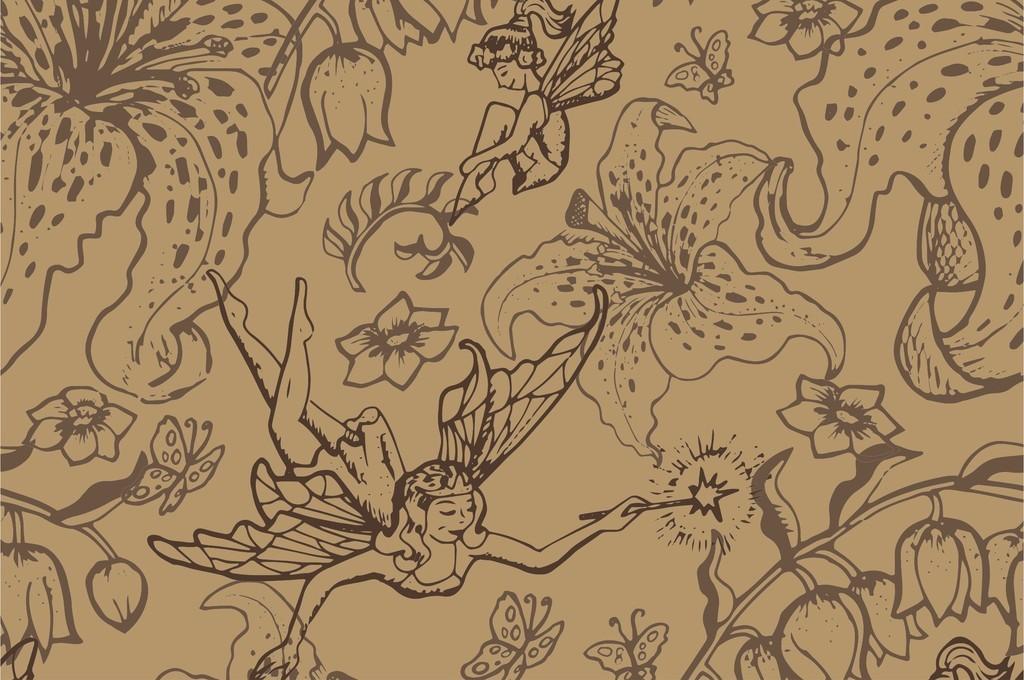动物图案蝴蝶植物花卉人物插画图案印花