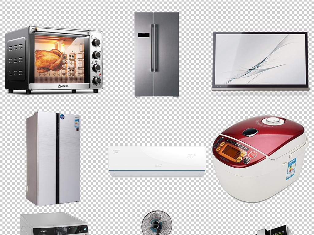 > 大型生活家电冰箱电视机洗衣机空调电风扇  版权图片 设计师 : mail