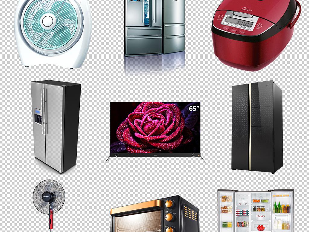 家用电器海报冰箱空调洗衣机吹风机榨汁机