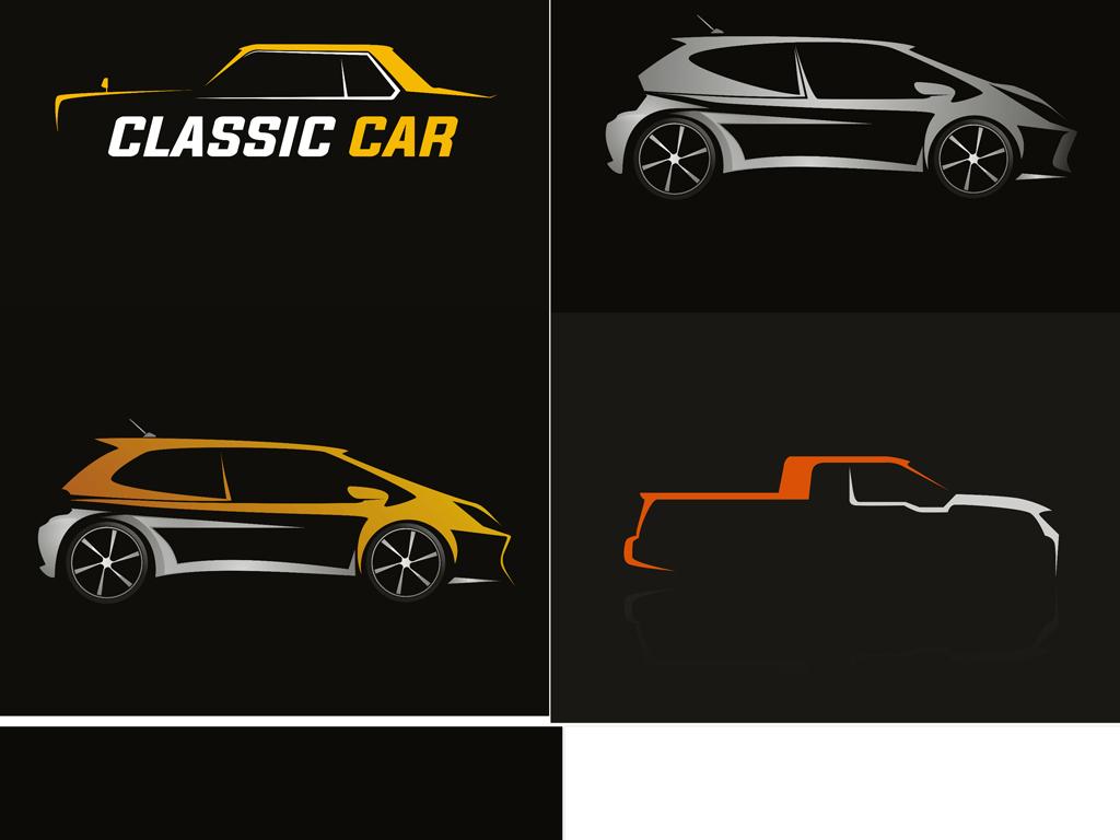 ai)汽车图标彩色款汽车生活类矢量图标