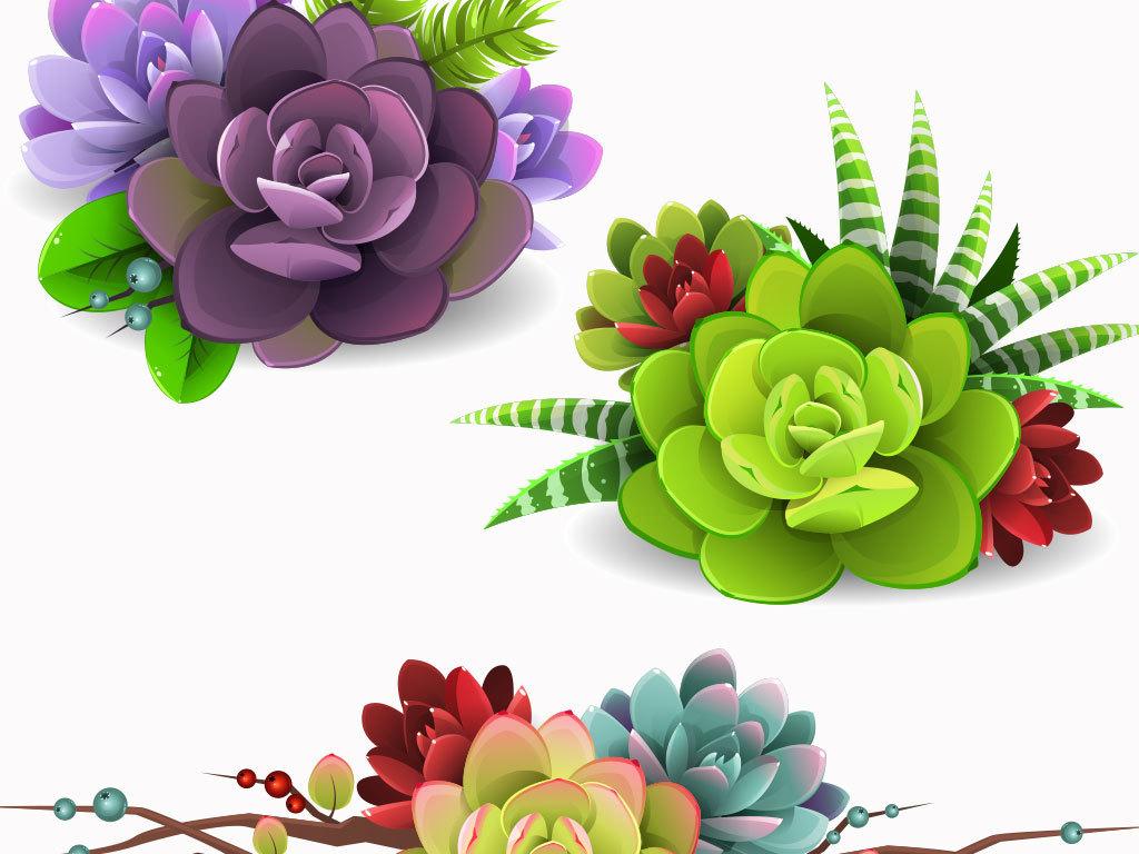 手绘小清新                                          背景绿色植物