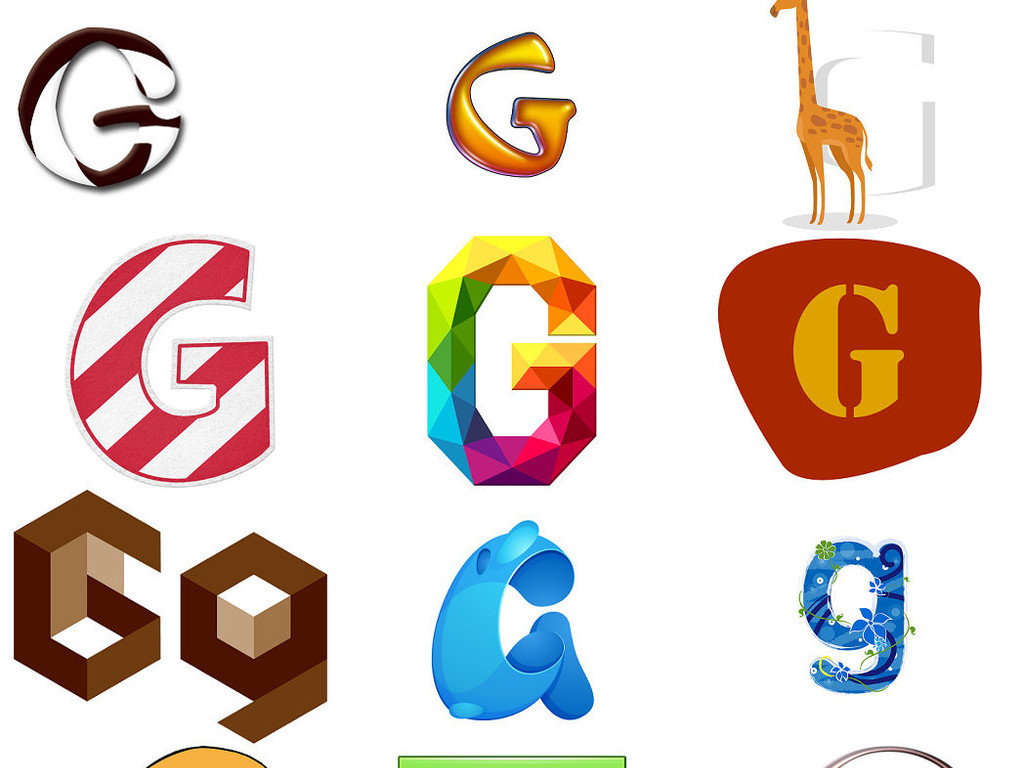 英文字母g艺术字体设计素材1