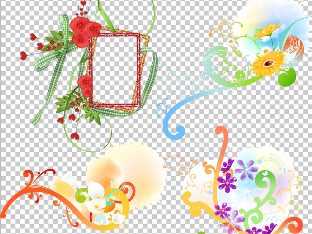 欧美剪贴儿童照片相框小报边框png