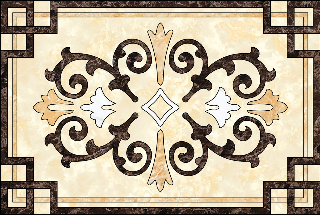 瓷砖拼花图客厅地花水刀角花欧式客厅地面拼花天花背景墙图案客厅拼图图片