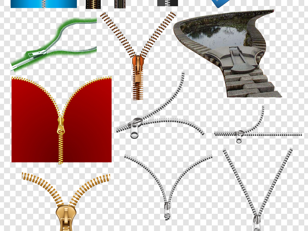 卡通手绘拉链png海报素材图片下载png素材-装饰图案