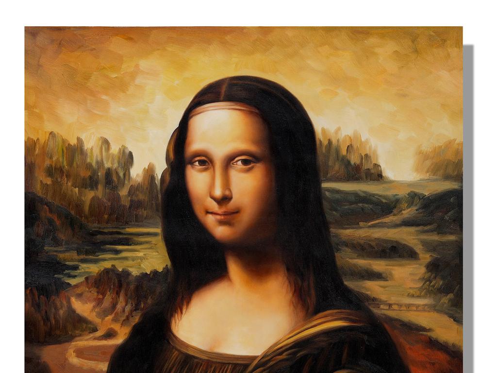 蒙娜丽莎的微笑高清油画装饰画