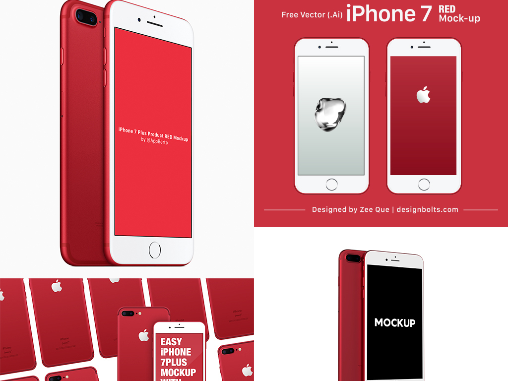 psd红色iphone7手机宣传海报红色苹果苹果手机手机苹果手机数码产品