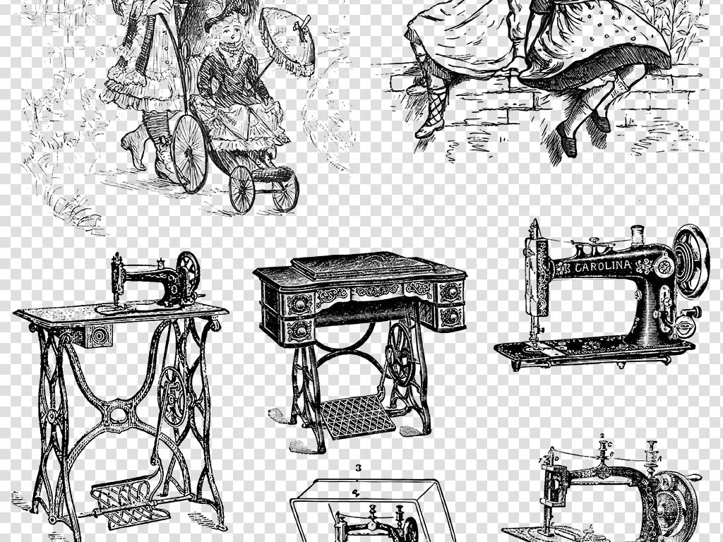 复古手绘素材贵族千金古典贵族服饰人物素材欧式复古欧式人物复古素材