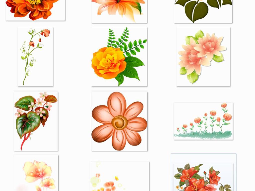 唯美手绘花卉海报请柬设计素材