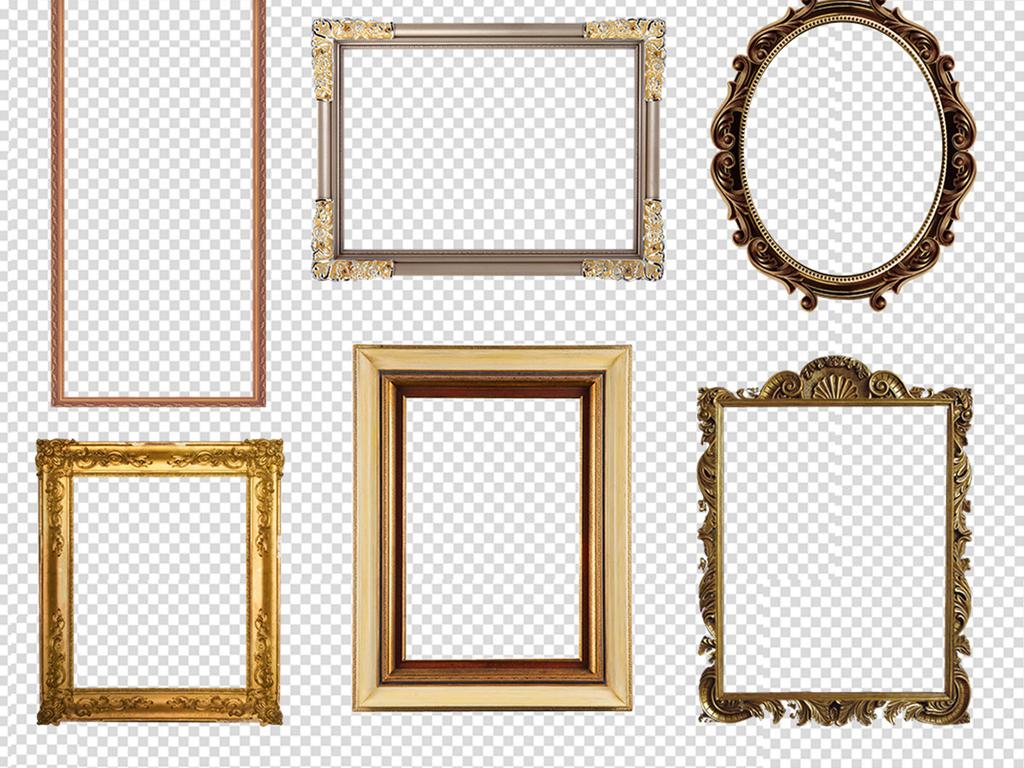 欧式画框png素材图片