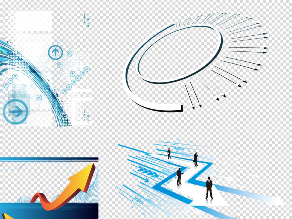 手绘箭头                                  科技背景科技边框