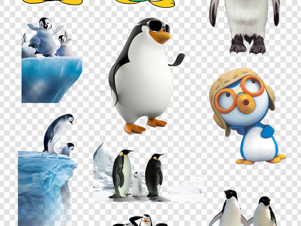 卡通可爱企鹅qq企鹅形象png素材