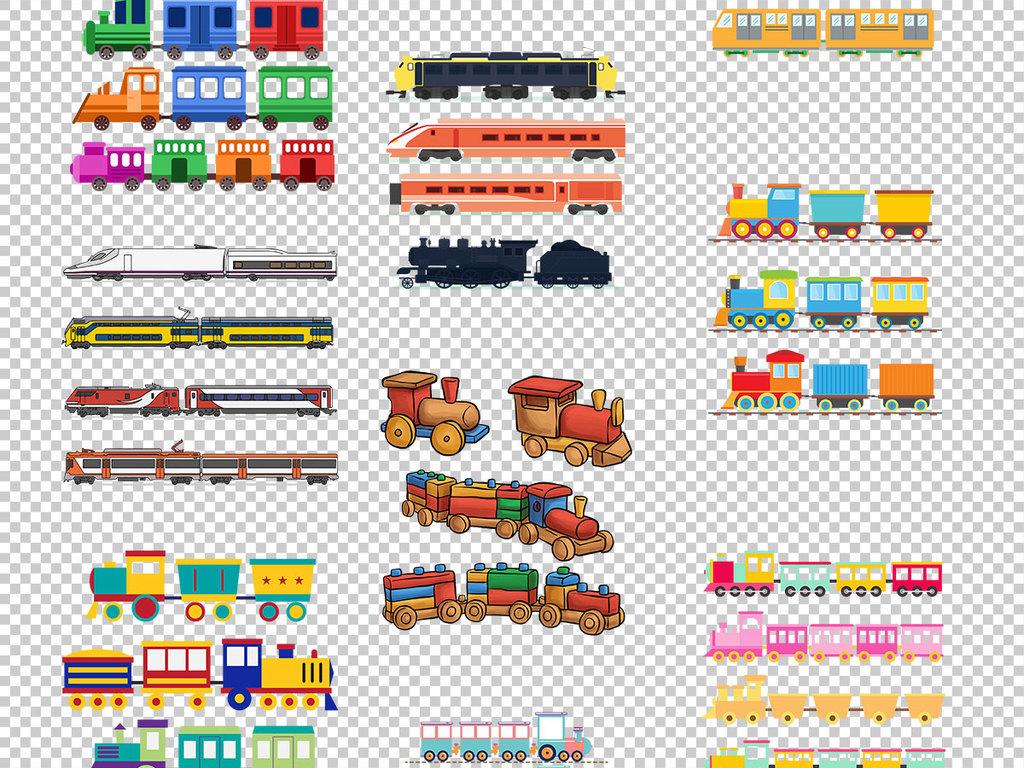 简笔画老火车托马斯小火车美国火车日本火车火车头火车免抠素材手绘
