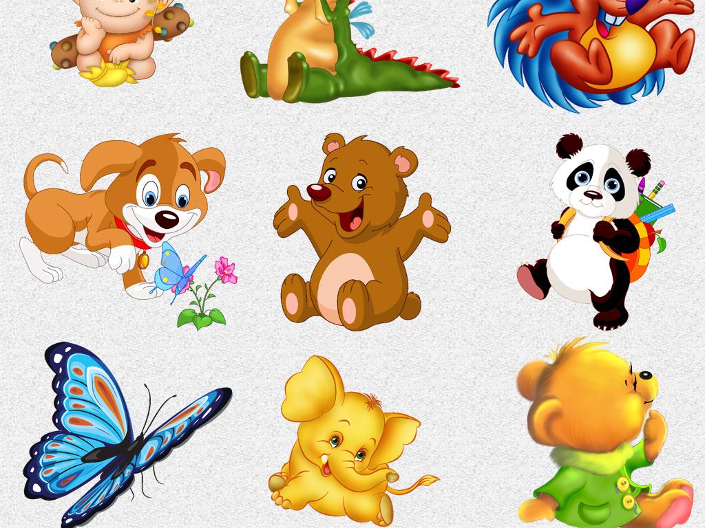 116个儿童卡通童话人物动物插图素材图片
