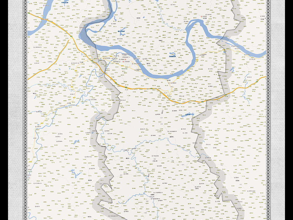 高清宜宾市江安县地图