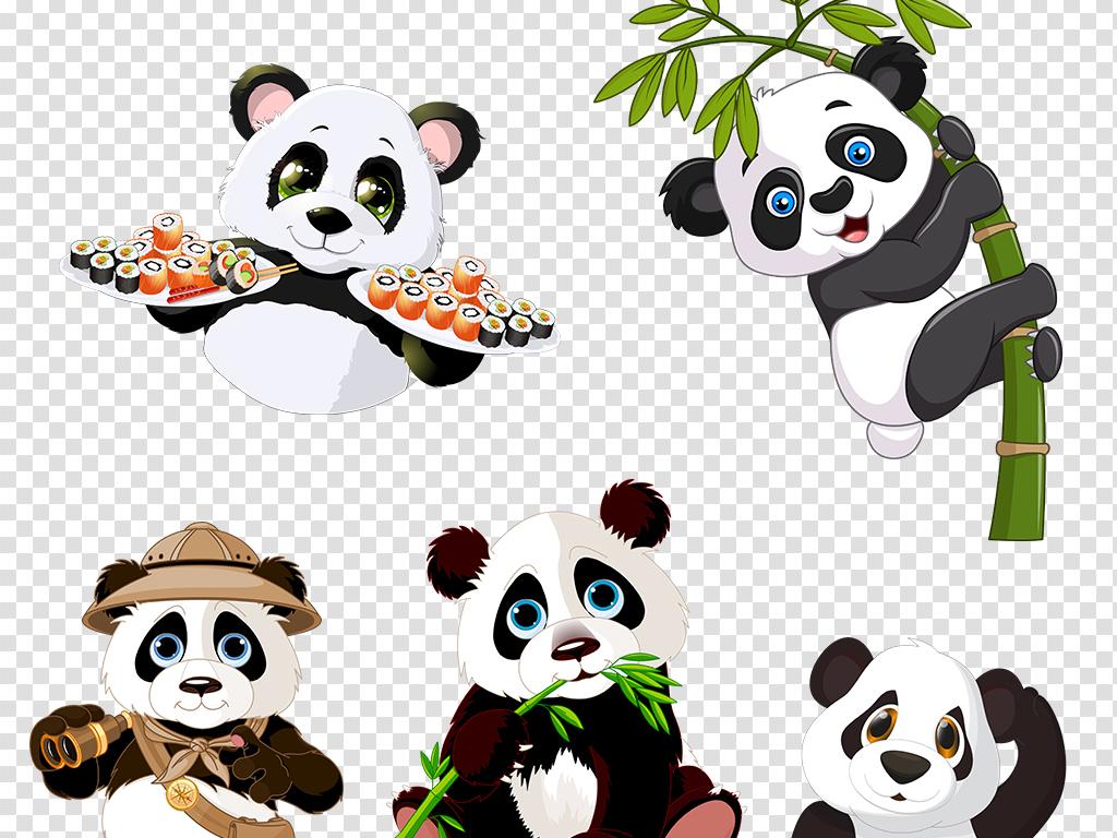 透明图片动物png可爱图片素材可爱png大熊猫动物图片国宝png图片素材