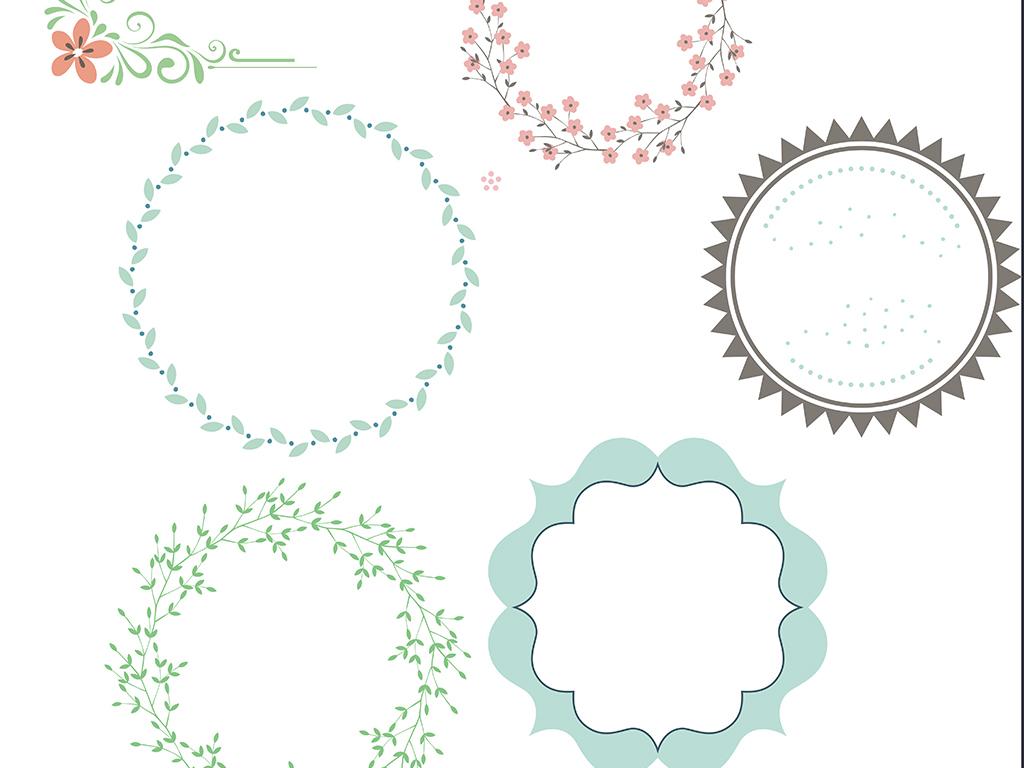 花边框素材                                  鲜花粉色手绘