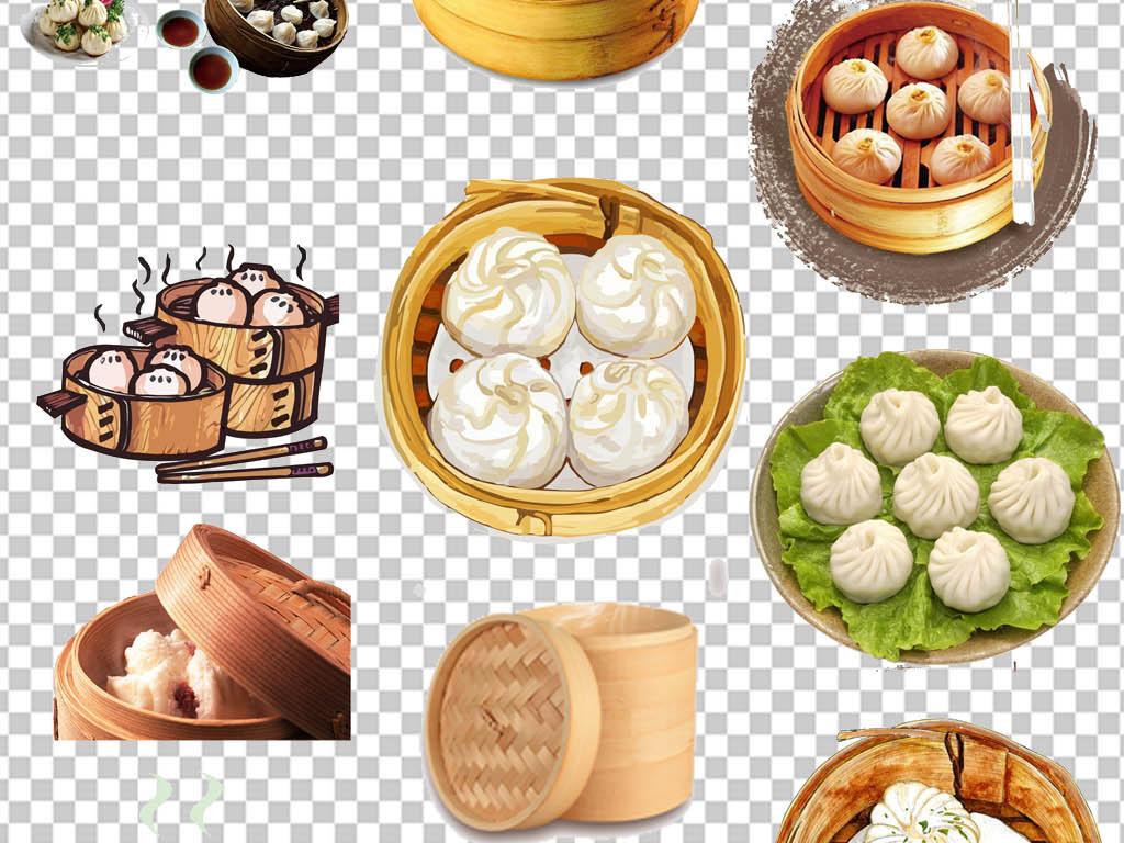 灌汤包天津狗不理传统美食手绘包子
