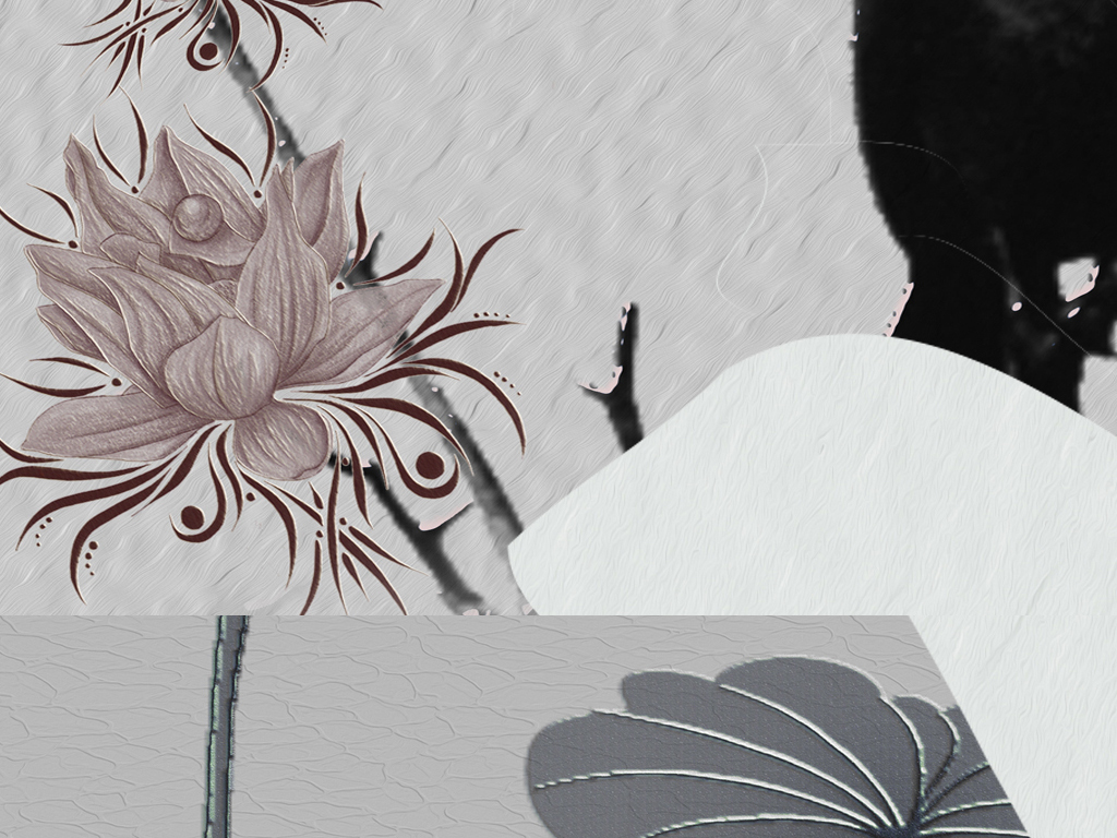 北欧简约清新淡雅手绘爱情火烈鸟天鹅的爱装饰画三联组合无框画