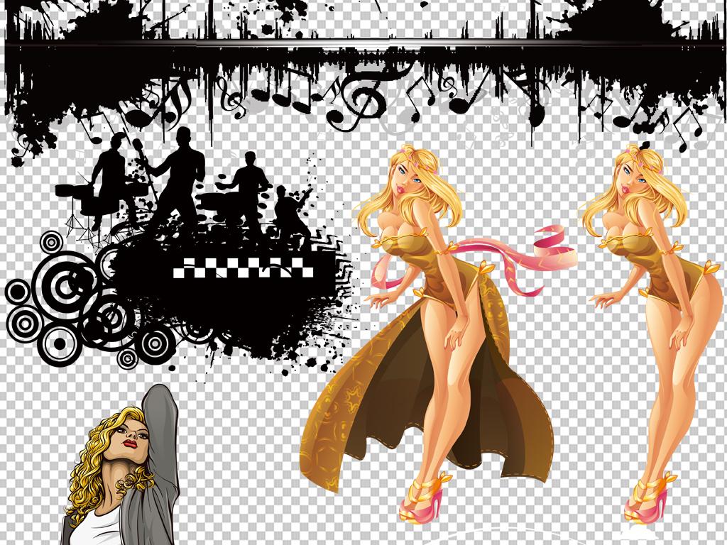 手绘美女音乐乐器大全png免抠素材图片素材参数 编号 : 16725476 软件