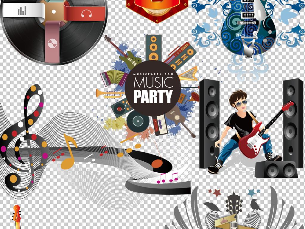 手绘矢量图免抠图海报摇滚乐器素材音乐素材免抠素材大全素材大全素材