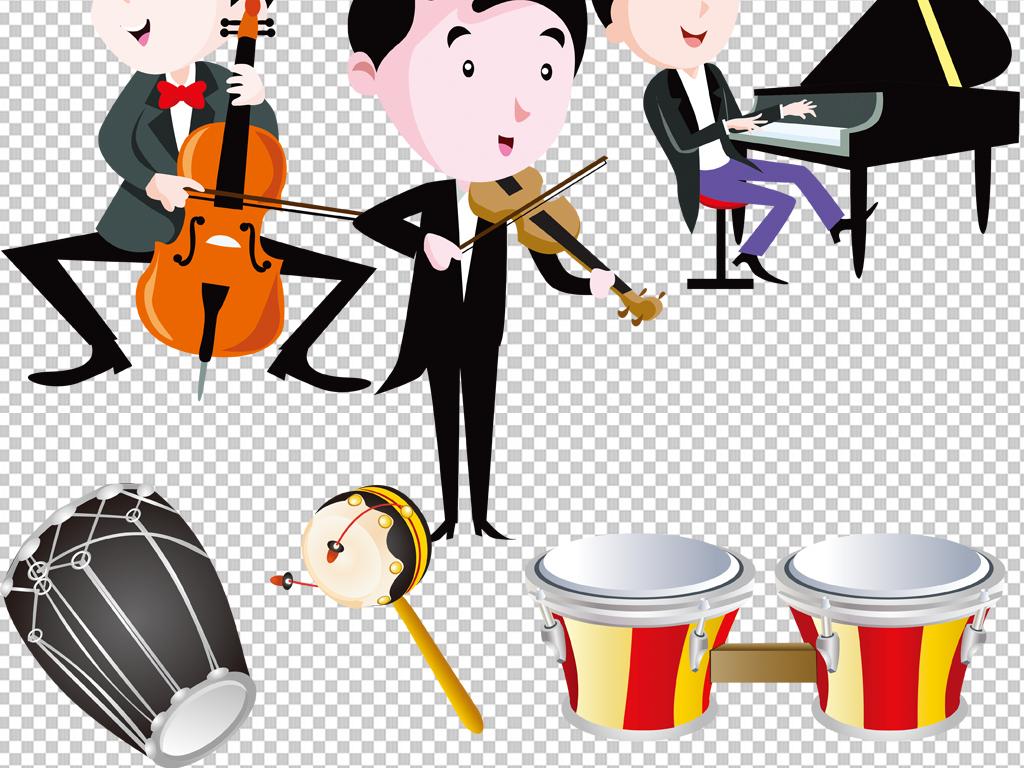 手绘矢量图免抠图海报摇滚乐器素材乐器音乐素材免抠素材素材音乐音乐