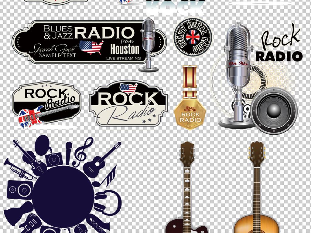手绘矢量图免抠图海报展板高清晰素材乐器音乐素材免抠素材素材音乐