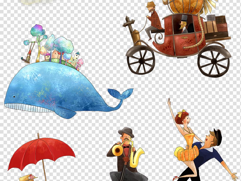 童话人物卡通插画人物png免扣图片素材