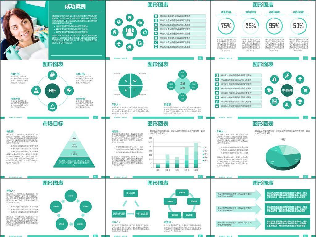 学发展策略医疗服务总结汇报PPT模板