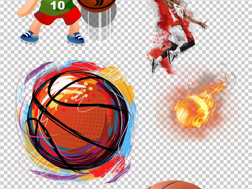 打篮球运动篮球赛事卡通投篮投篮卡通