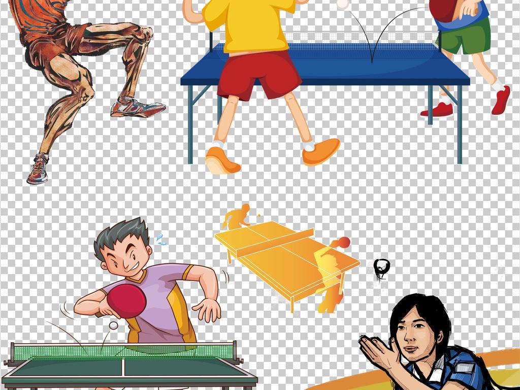 国球乒乓球运动海报设计素材图片