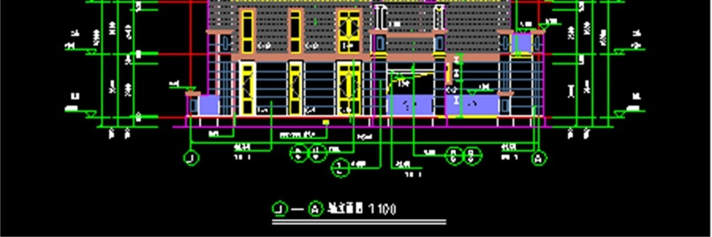 独立住宅楼cad施工设计图