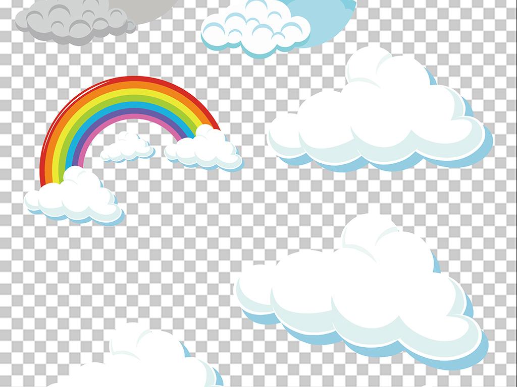 免扣元素 花纹边框 卡通手绘边框 > 卡通云朵元素png免扣背景素材