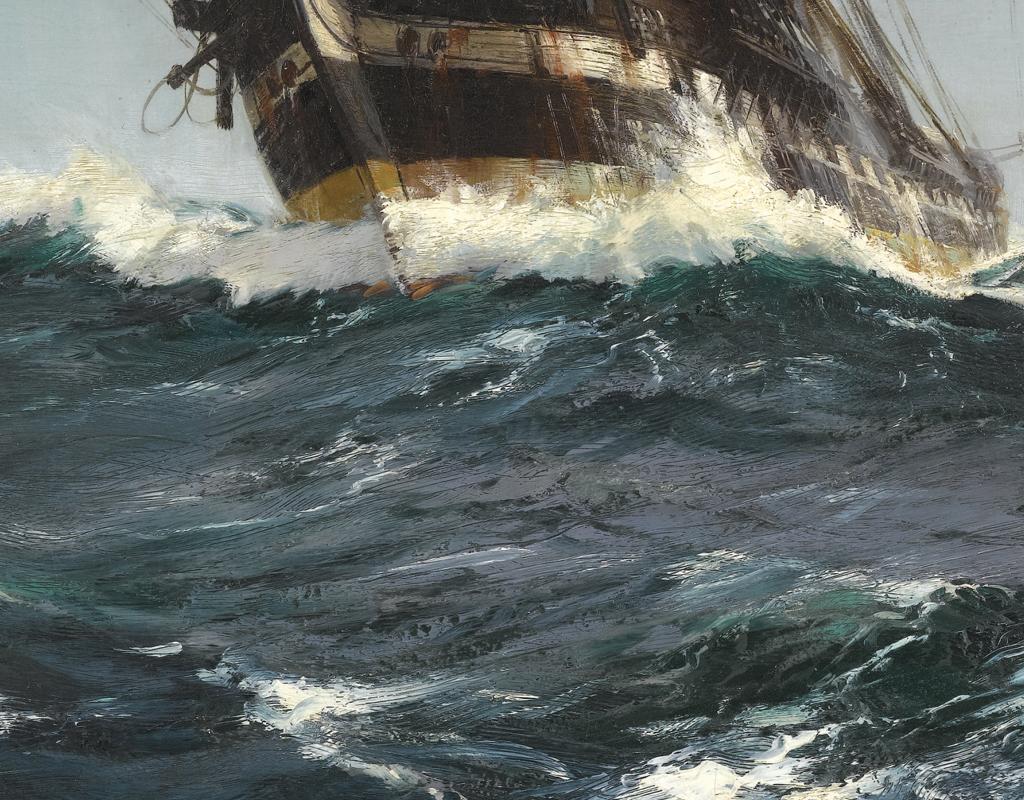 北欧现代手绘大海帆船风景挂画客厅无框画