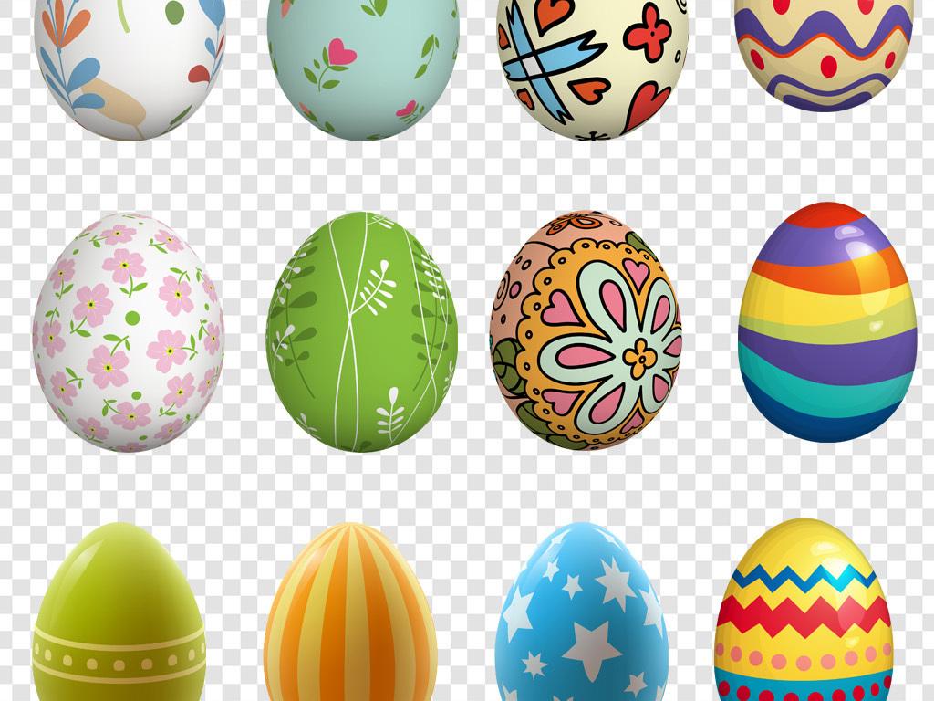 卡通手绘彩蛋鸡蛋png海报素材