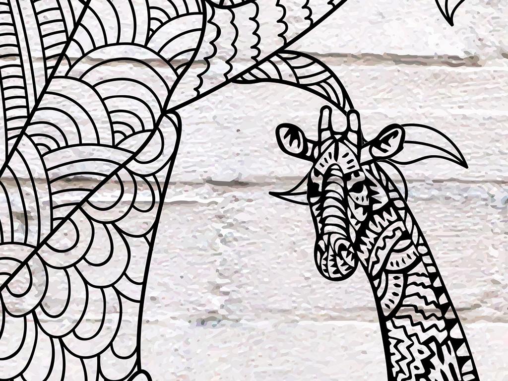 手绘爱心树儿童房背景墙