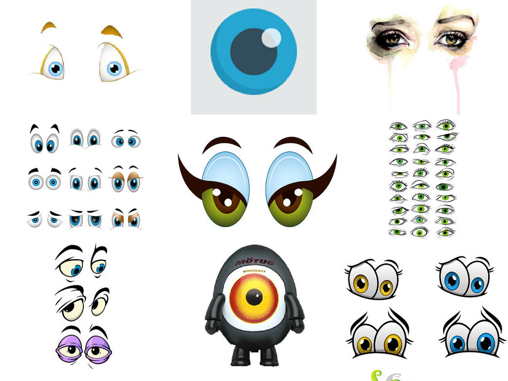 睫毛眼睛手绘眼睛卡通眼睛形象设计1