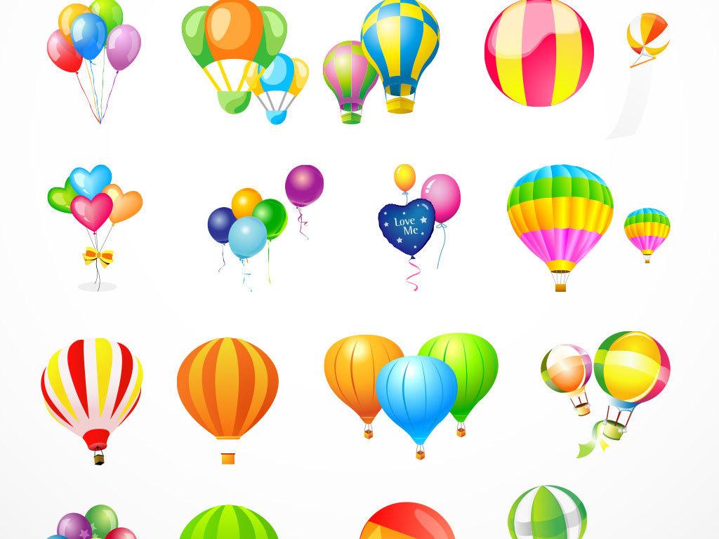 梦想卡通素材矢量热气球彩色设计素材彩色热气球图片照片背景图片素材