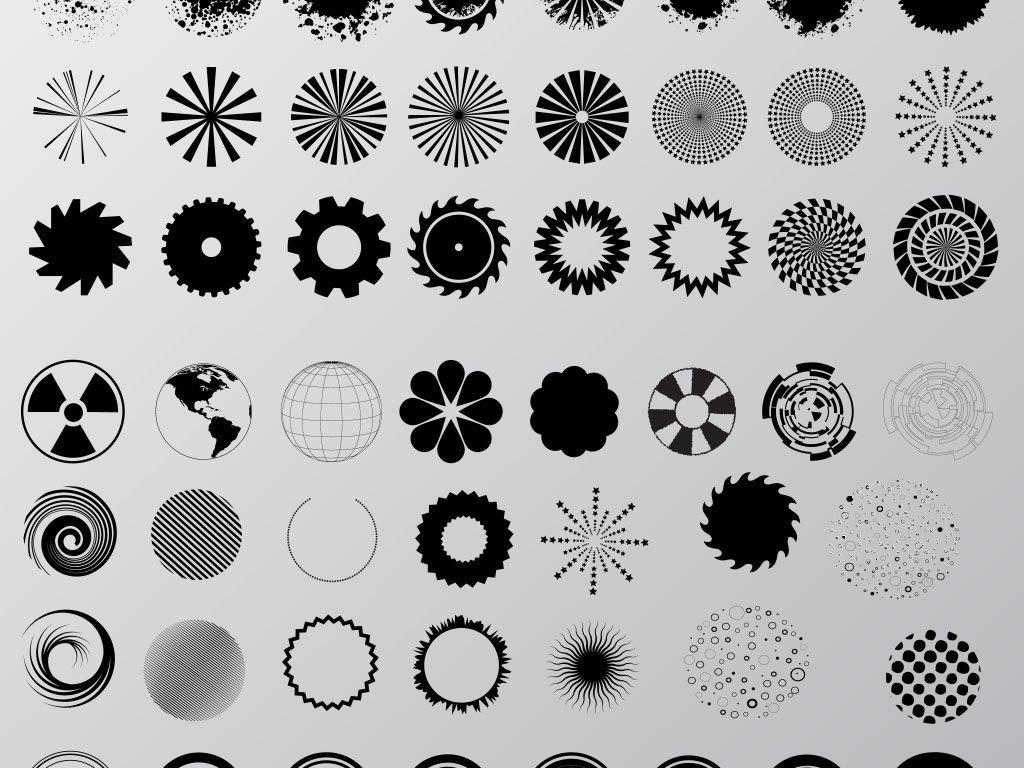水墨中国风圆环圆形边框圆圈图片素材图片